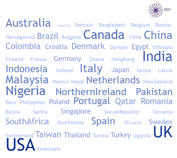 Countries where the INDIGO Scales have been used (2013-2018)